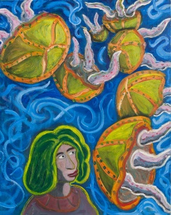 Rudy Rucker: Woman With Jellyfish